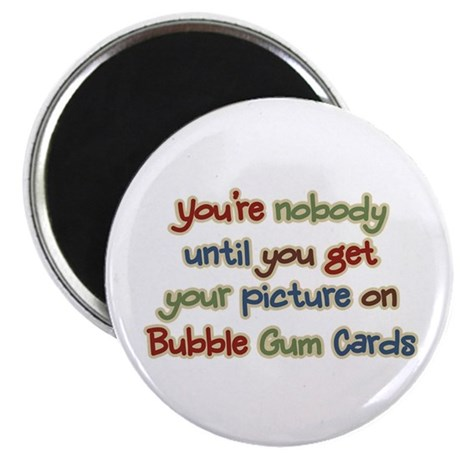"Baseball Bubble Gum Card Collector 2.25"" Magnet (1"