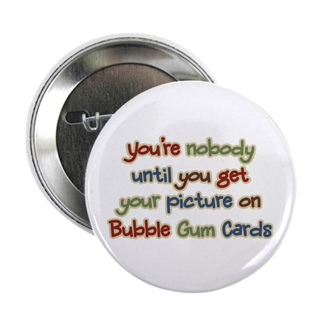 "Baseball Bubble Gum Card Collector 2.25"" Button (1"