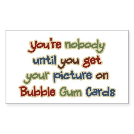 Baseball Bubble Gum Card Collector Sticker (Rectan