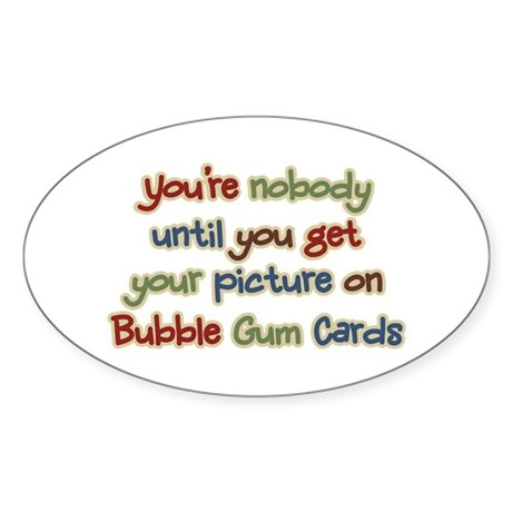 Baseball Bubble Gum Card Collector Oval Sticker