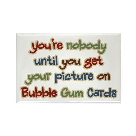 Baseball Bubble Gum Card Collector Rectangle Magne