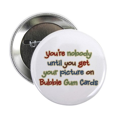 Baseball Bubble Gum Card Collector Button