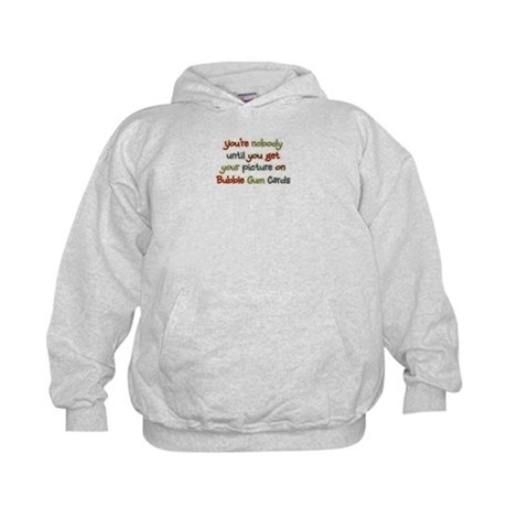 Baseball Bubble Gum Card Collector Kids Hoodie