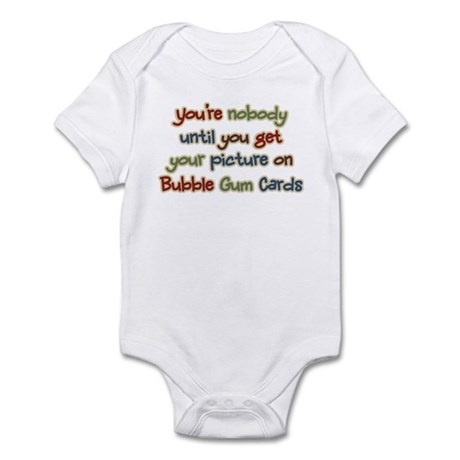 Baseball Bubble Gum Card Collector Infant Bodysuit