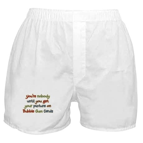Baseball Bubble Gum Card Collector Boxer Shorts