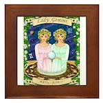 Lady Gemini Framed Tile