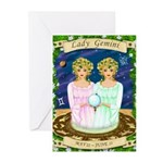 Lady Gemini Greeting Cards (Pk of 10)
