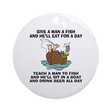 Teach A Man To Fish Ornament (Round)