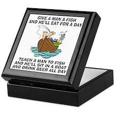 Teach A Man To Fish Keepsake Box