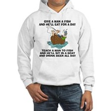 Teach A Man To Fish Hooded Sweatshirt