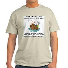 Teach A Man To Fish Light T-Shirt