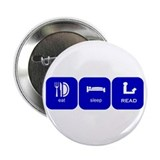 eat sleep read Button