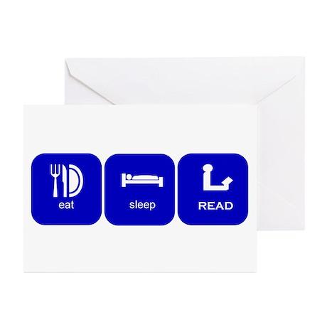 eat sleep read Greeting Cards (Pk of 10)