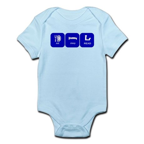 eat sleep read Infant Bodysuit