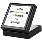 MSW Will Work for Change Keepsake Box