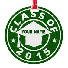 Class Of 2015 Graduation Round Ornament