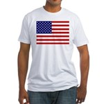 Patrtiotic American Flag Fitted T-Shirt