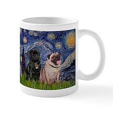 Starry Night & Pug Pair Coffee Mug