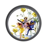 BUTTERCUP FAIRIES Wall Clock