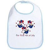 Triplet 1st 4th of July Blue  Bib