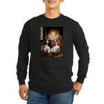 The Queens Cavalier Pair Long Sleeve Dark T-Shirt