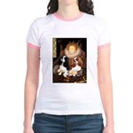 The Queens Cavalier Pair Jr. Ringer T-Shirt