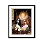 The Queens Cavalier Pair Framed Panel Print