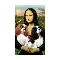 Mona's 2 Cavaliers Sticker (Rectangle)