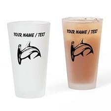 Custom Hammerhead Shark Drinking Glass