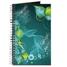 Floral Green Swirls Design Journal