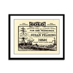 Gold Express Clipper Ships Framed Panel Print