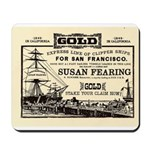 Gold Express Clipper Ships Mousepad