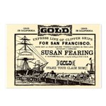 Gold Express Clipper Ships Postcards (Package of 8