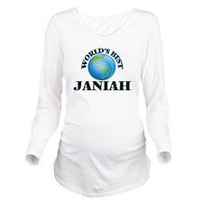 World's Best Janiah Long Sleeve Maternity T-Shirt