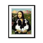 Mona's 2 Cavaliers Framed Panel Print