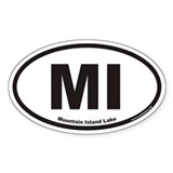 Mountain Island Lake MI Euro Oval Decal