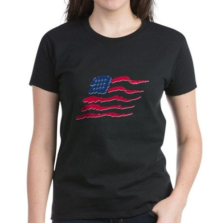 Stars and Stripes Women's Dark T-Shirt