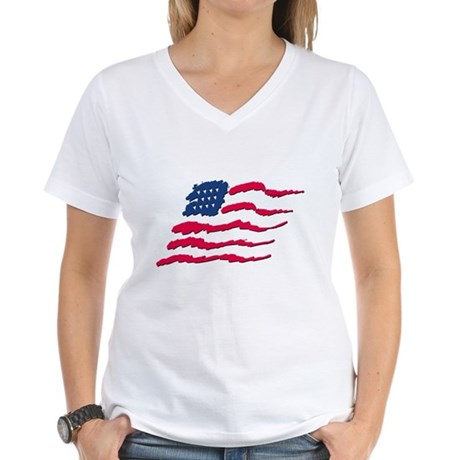 Stars and Stripes Women's V-Neck T-Shirt