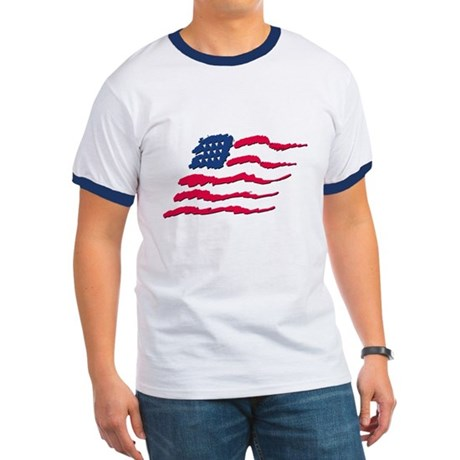 Stars and Stripes Ringer T