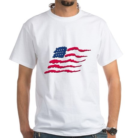 Stars and Stripes White T-Shirt