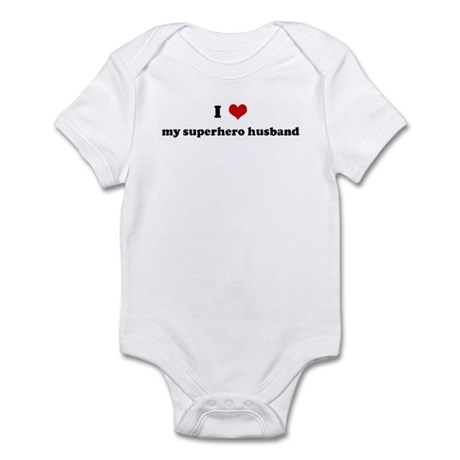 I Love my superhero husband Infant Bodysuit
