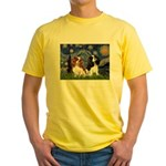 Starry Cavalier Pair Yellow T-Shirt