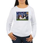 Starry Cavalier Pair Women's Long Sleeve T-Shirt