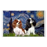 Starry Cavalier Pair Sticker (Rectangle)