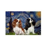 Starry Cavalier Pair Rectangle Magnet