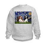 Starry Cavalier Pair Kids Sweatshirt