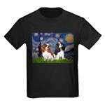 Starry Cavalier Pair Kids Dark T-Shirt