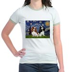 Starry Cavalier Pair Jr. Ringer T-Shirt