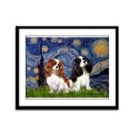 Starry Cavalier Pair Framed Panel Print
