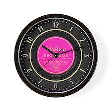 Harlem Records 78 Record Label Wall Clock